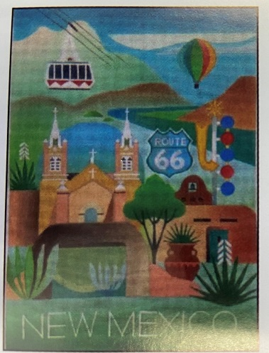 click here to view larger image of New Mexico (hand painted canvases)
