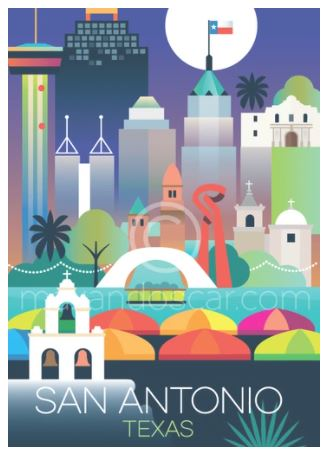 click here to view larger image of San Antonio Postcard (hand painted canvases)