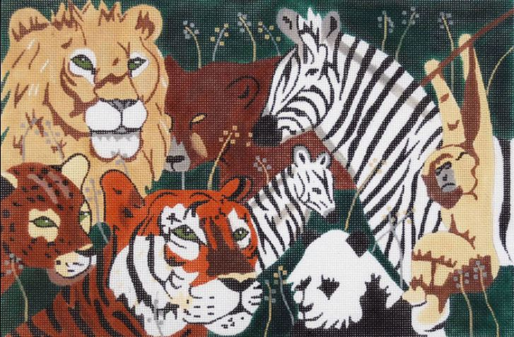 click here to view larger image of Animal Collage (hand painted canvases)