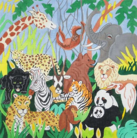 click here to view larger image of Animal Kingdom (hand painted canvases)
