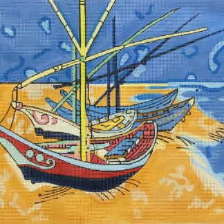 click here to view larger image of Boats at Les Saintes Maries (hand painted canvases)