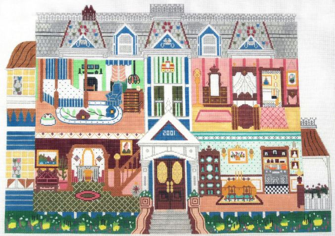 click here to view larger image of Doll House (hand painted canvases)
