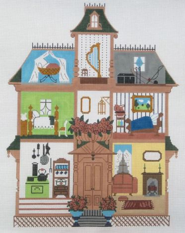 click here to view larger image of Dollhouse 6 (hand painted canvases)