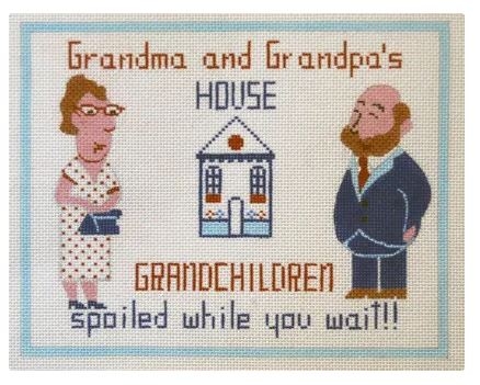 click here to view larger image of Grandma/Grandpa (hand painted canvases)
