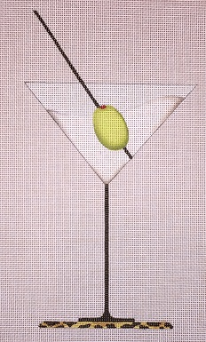 click here to view larger image of Martini (hand painted canvases)