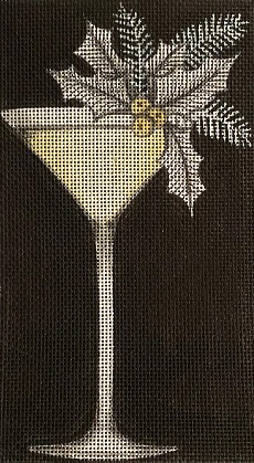 click here to view larger image of Holiday Martini (hand painted canvases)