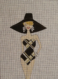 click here to view larger image of Posh Plaid Swimsuit (hand painted canvases)