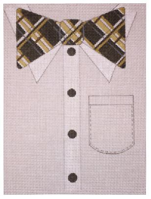 click here to view larger image of Posh Plaid Bow Tie (hand painted canvases)