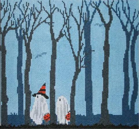 click here to view larger image of Trick or Trees (hand painted canvases)