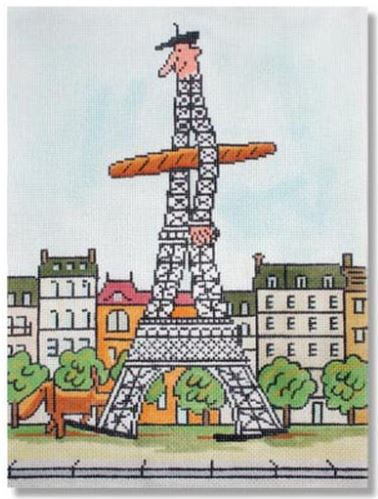 click here to view larger image of Hello Paris (hand painted canvases)