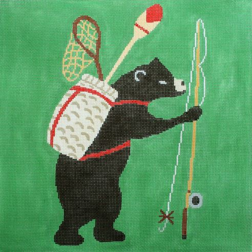 Bear Going Fishing - click here for more details