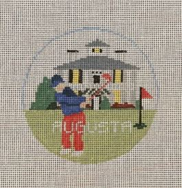 click here to view larger image of Augusta Round (hand painted canvases)