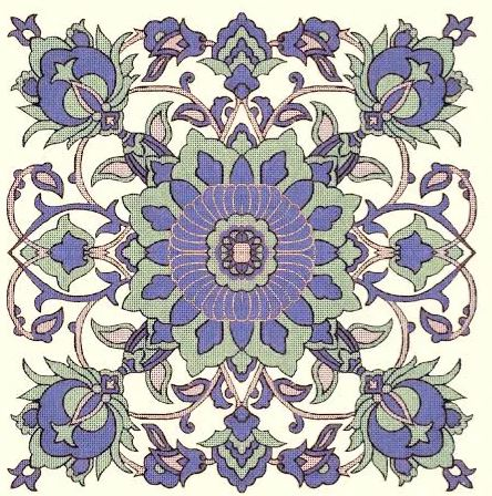 click here to view larger image of Persian Tile (hand painted canvases)