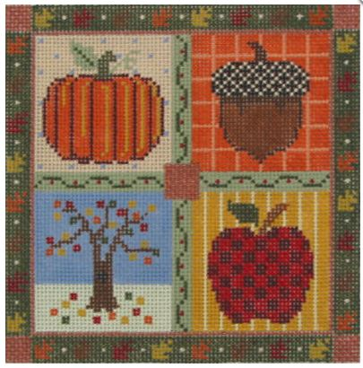 click here to view larger image of Fall - Medium Seasonal Square (hand painted canvases)