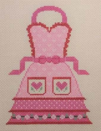 click here to view larger image of Apron - Valentines (hand painted canvases)