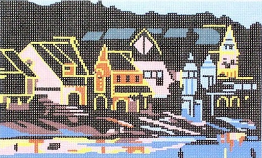 click here to view larger image of Boathouse Row at Night (hand painted canvases)