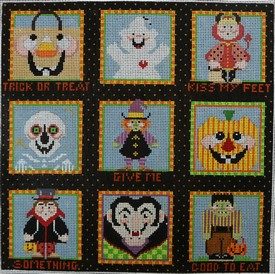 click here to view larger image of Trick or Treat Kiss My Feet (hand painted canvases)