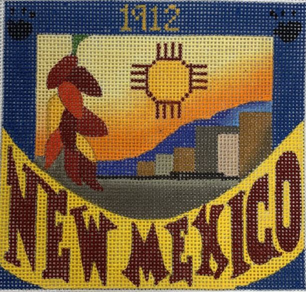 click here to view larger image of Postcard - New Mexico (hand painted canvases)