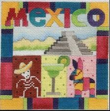 click here to view larger image of Postcard - Mexico (hand painted canvases)