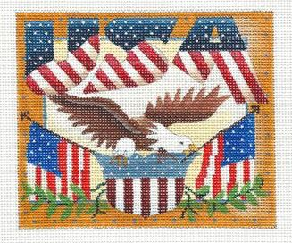 click here to view larger image of Postcard - USA (hand painted canvases)