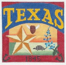 click here to view larger image of Postcard - Texas (hand painted canvases)