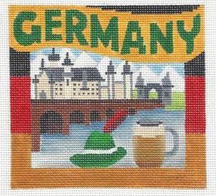 click here to view larger image of Postcard - Germany (hand painted canvases)