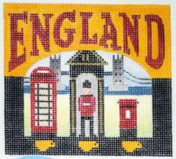 click here to view larger image of Postcard - England (hand painted canvases)