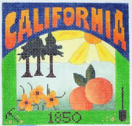 click here to view larger image of Postcard - California (hand painted canvases)