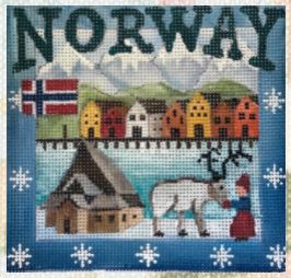 click here to view larger image of Postcard - Norway (hand painted canvases)
