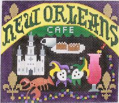 click here to view larger image of Postcard - New Orleans (hand painted canvases)