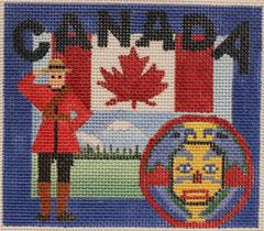 click here to view larger image of Postcard - Canada (hand painted canvases)