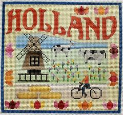 click here to view larger image of Postcard - Holland  (hand painted canvases)