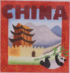 click here to view larger image of Postcard - China (hand painted canvases)