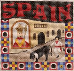Postcard - Spain - click here for more details about this hand painted canvases
