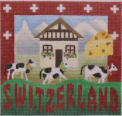 Postcard - Switzerland - click here for more details about this hand painted canvases