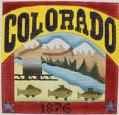 click here to view larger image of Postcard - Colorado  (hand painted canvases)