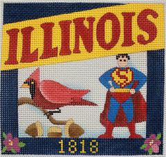 Postcard - Illinois  - click here for more details about this hand painted canvases