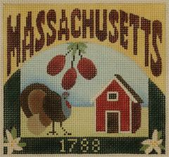 Postcard - Massachusetts  - click here for more details about this hand painted canvases