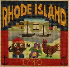 Postcard - Rhode Island - click here for more details about this hand painted canvases