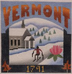 Postcard - Vermont - click here for more details about this hand painted canvases