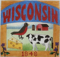Postcard - Wisconsin  - click here for more details about this hand painted canvases