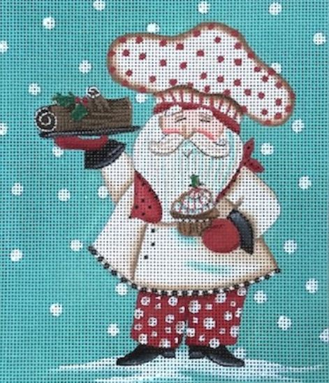 Santa - Yule Log - click here for more details about this hand painted canvases