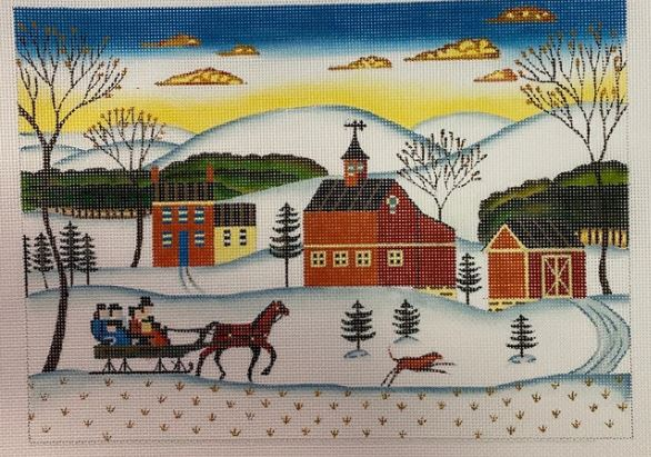 Sleigh Ride - click here for more details about this hand painted canvases