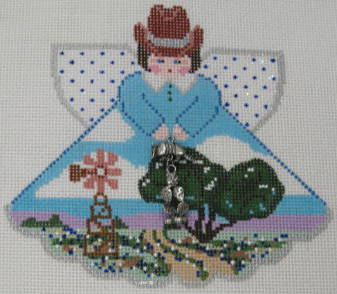 Texas Hill Country Angel - click here for more details about this hand painted canvases