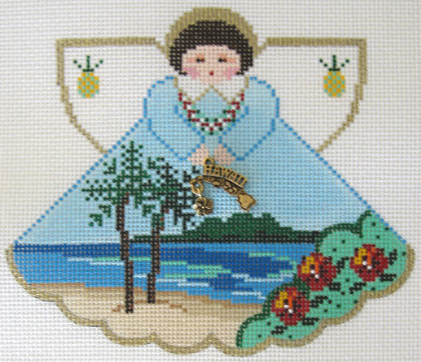 Hawaii Angel - click here for more details about this hand painted canvases