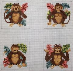 click here to view larger image of Monkeys (hand painted canvases)