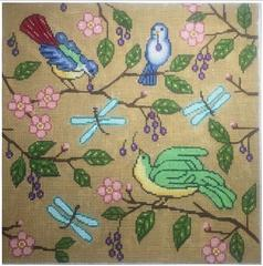 click here to view larger image of Bird of Paridise (hand painted canvases)