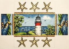 click here to view larger image of Lighthouse Brick Cover (hand painted canvases)