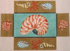 click here to view larger image of Nautilus Shell Brick Cover II (hand painted canvases)