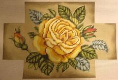 click here to view larger image of Yellow Rose Brick Cover   (hand painted canvases)